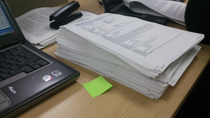 This is what 136 application forms looks like. It took 3 days to review and sore all these