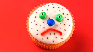 The good news is: here's a cake!  The bad news is: it's sad :(