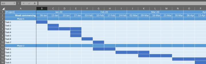Super-simple Gantt Chart Template image